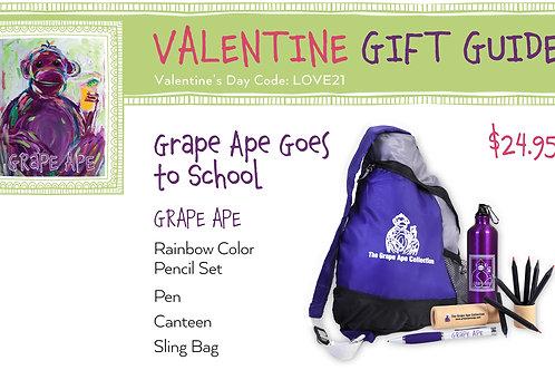 Valentine's Day Grape Ape Goes To School