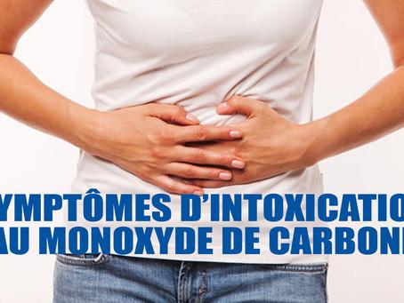 Symptômes d'intoxication au monoxyde de carbone
