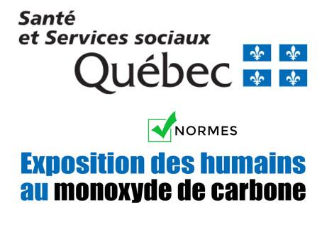 Normes gouvernementale relativement au monoxyde de carbone
