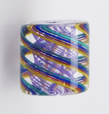 purple bead closeup
