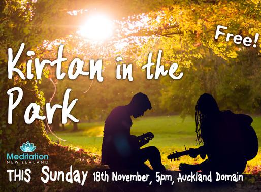 Kirtan in the Park - Sun 18th Nov 5pm