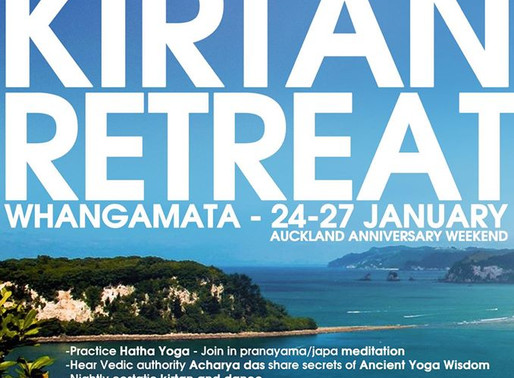 YOGA KIRTAN RETREAT            Anniversary Weekend 25-27th Jan, 2020