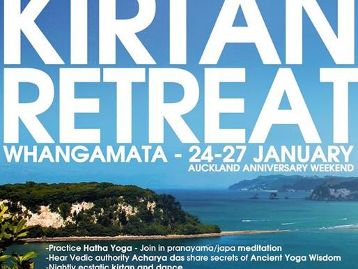 YOGA KIRTAN RETREAT            Anniversary Weekend 25-27th Jan, 2020
