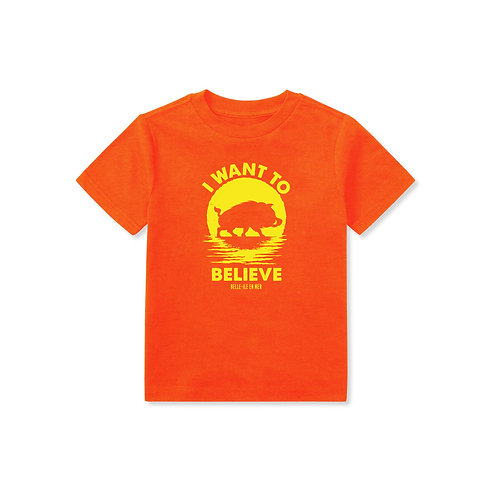 """T-Shirt Enfant """"I WANT TO BELIEVE"""" Peccable"""