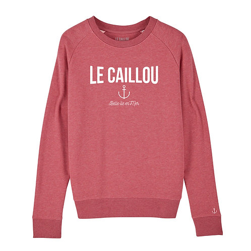 """Sweat Femme Col Rond """"ANCRE"""" Houlennek Rose"""