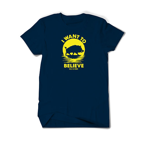 "Maillot en T Mixte ""I WANT TO BELIEVE"""
