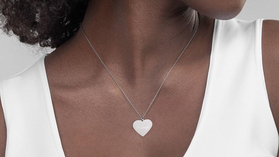 I'm Enough Heart Necklace