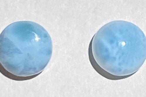 Larimar Large Ball Stud Earrings