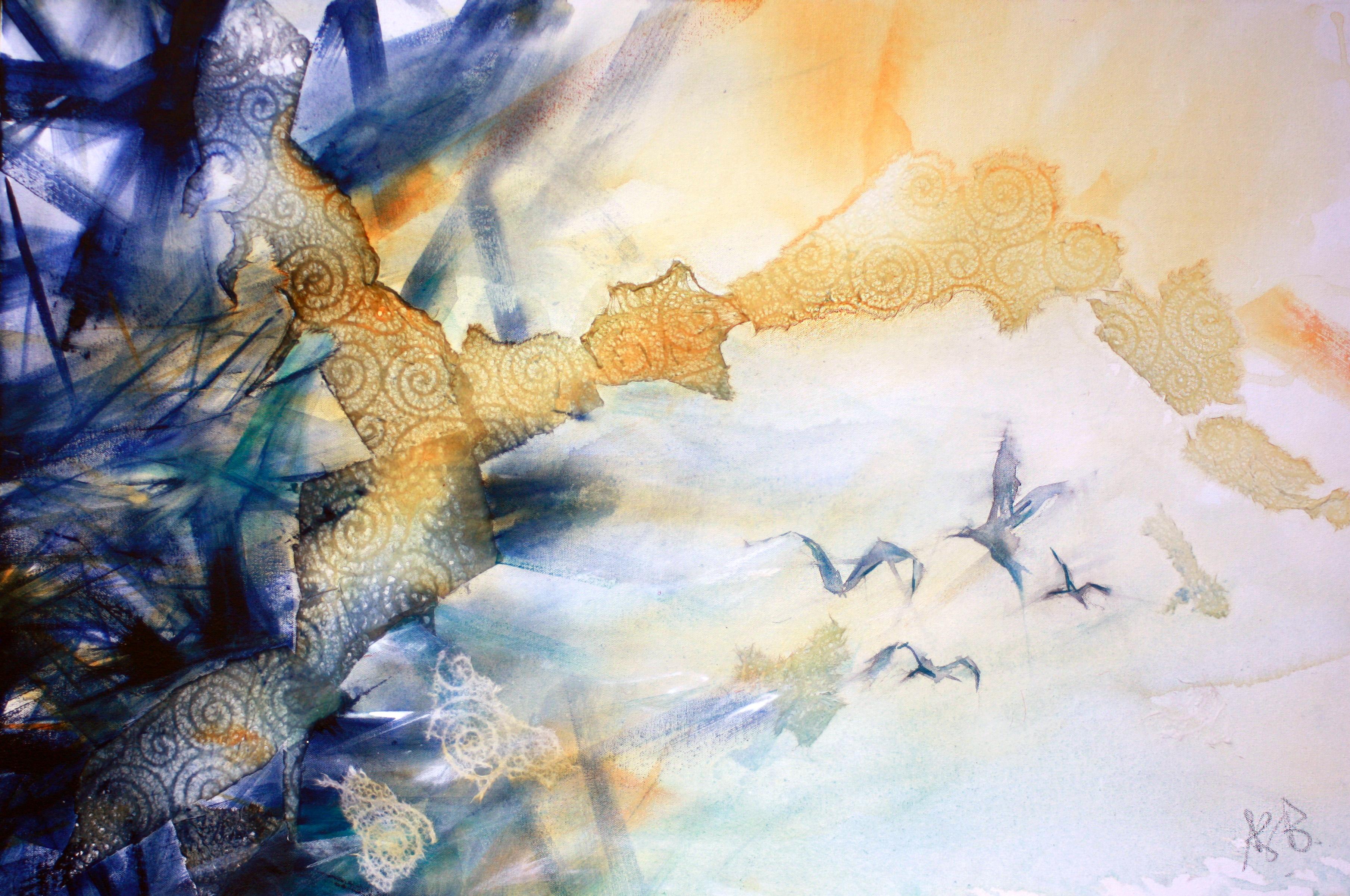 50-Dare acrylic_collage on canvas acryli