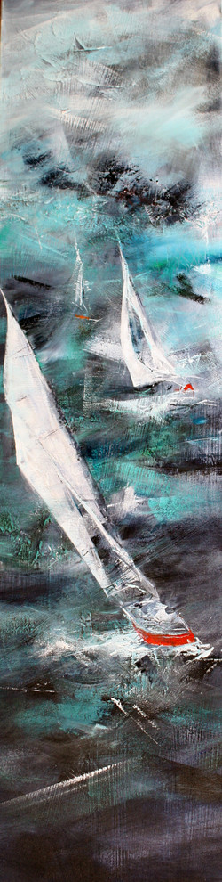 56-Atlantic acrylic_collage on canvas 18x46 inches 2013