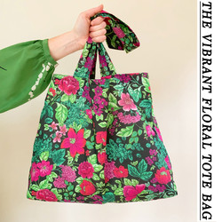 THE VIBRANT FLORAL TOTE BAG