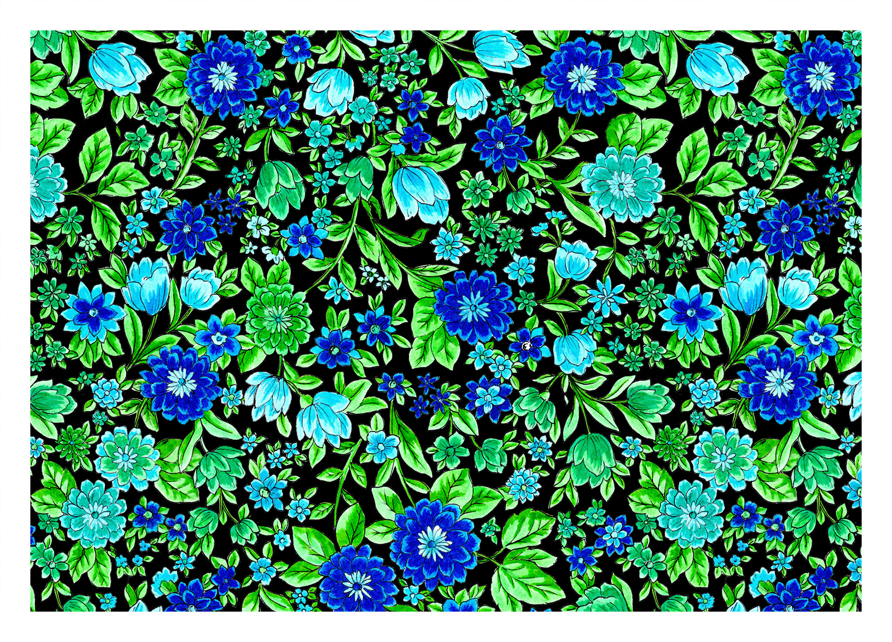 BLUE & GREEN DITSY