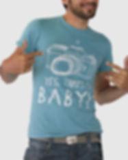 Azul Mi camiseta del bebé