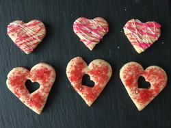 Valentines shortbread hearts