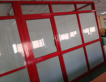 Tinted Glass & Aluminium Office Partition