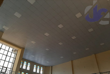 Acoustic Ceiling with LED Panels