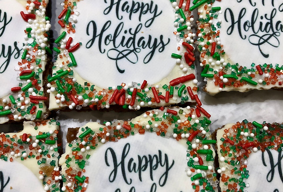 Boxed Christmas Assorted Cookies Squares
