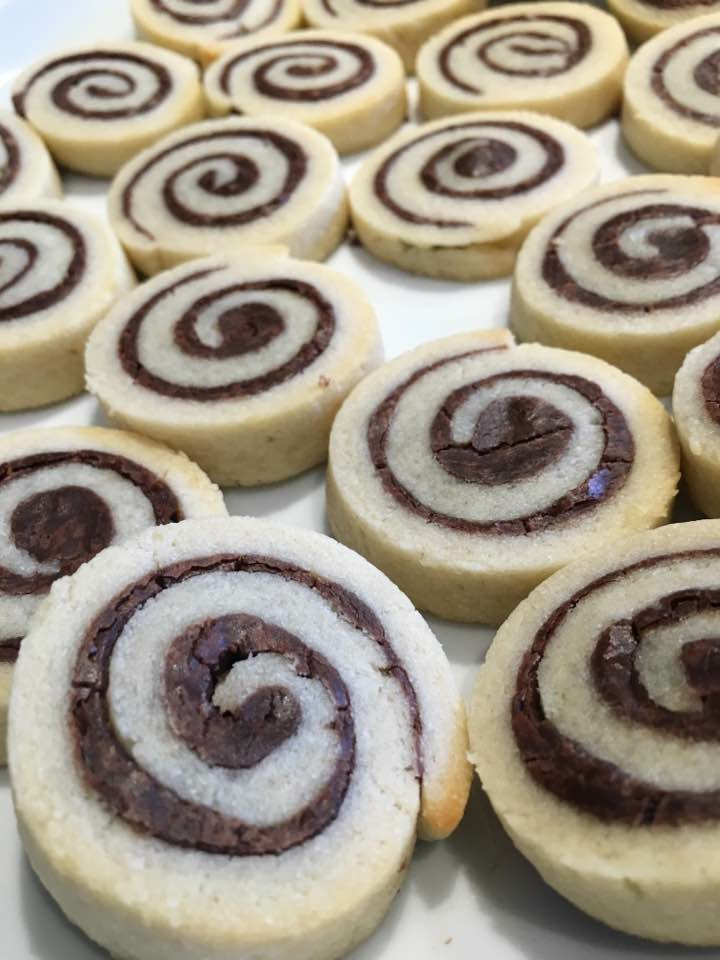 Chocolate Fudge Spirals
