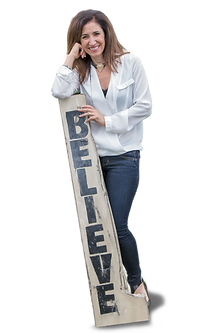 Soula Maion From Yiasou Inc With Believe Sign