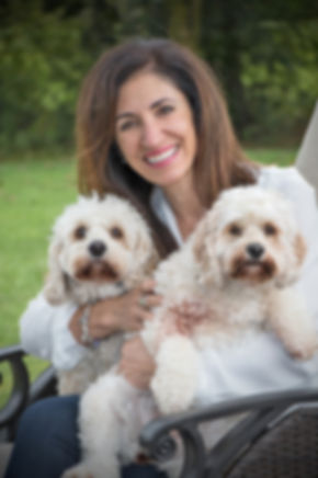 Soula Maione frm Yiasou Inc with her two dogs
