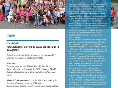 La newsletter du PLM Sanquer