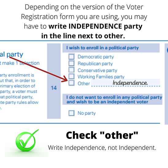 Depending on the version of the Voter Re