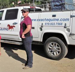 Vet, Jessica w vet truck