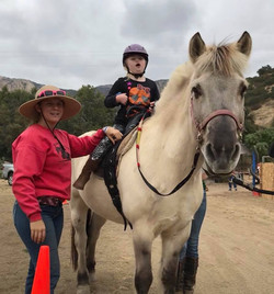 Katelyn riding Oly