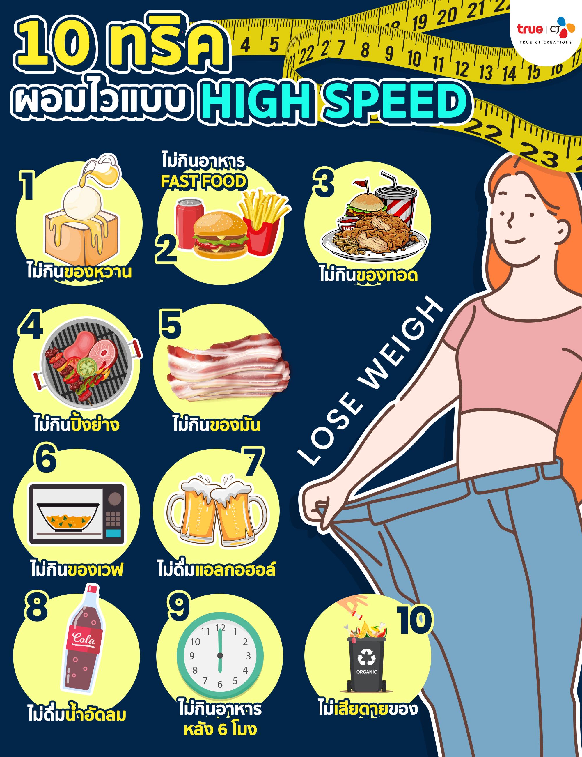 10 ทริค ผอมไวแบบ High speed4