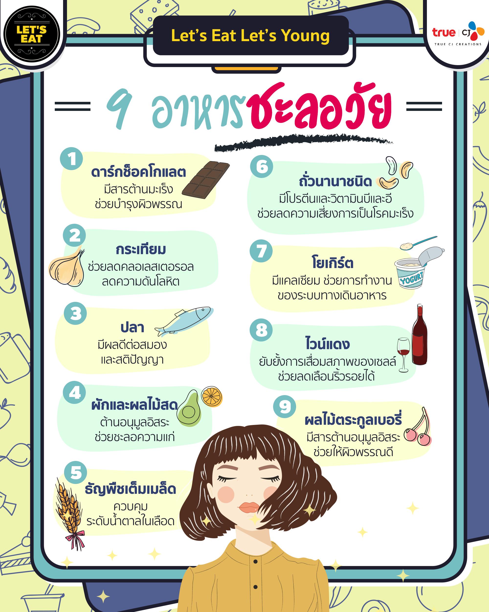 9 อาหารชะลอวัย