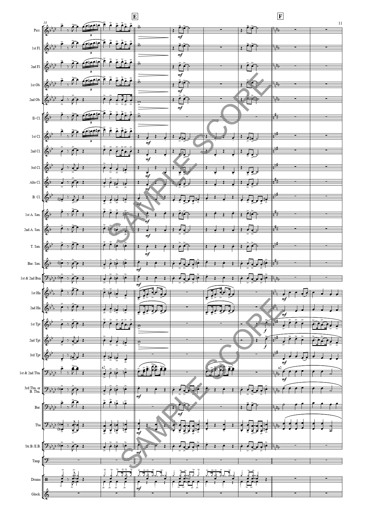 Example Conductor's Page 11