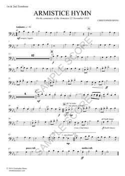 Armistice Hymn - 1st & 2nd Trombone