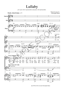 Example Piano & Vocal Score Page 2