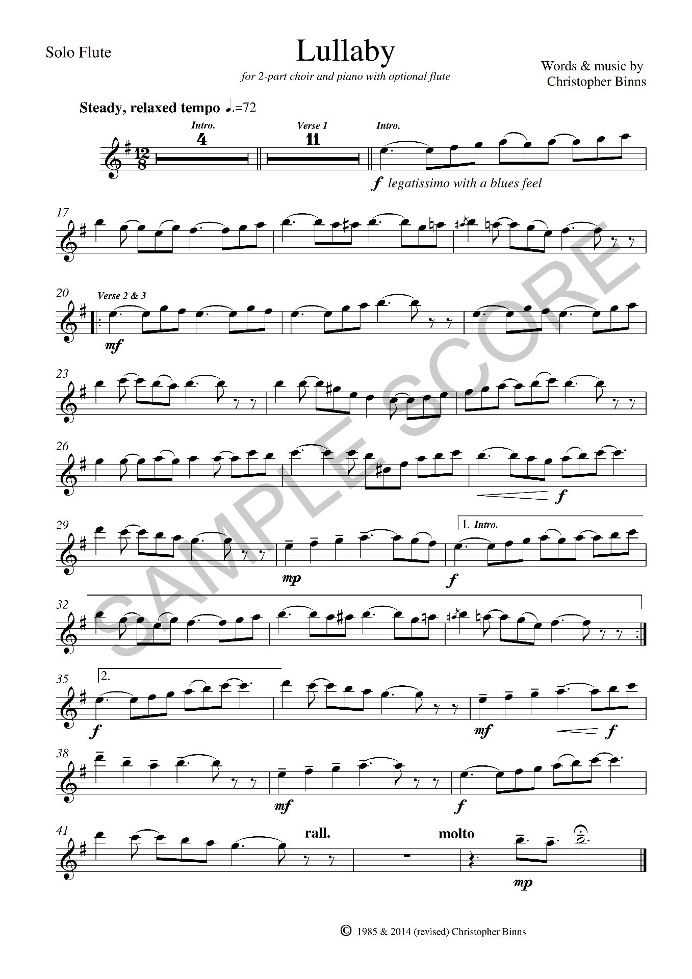 Example Solo Flute Score