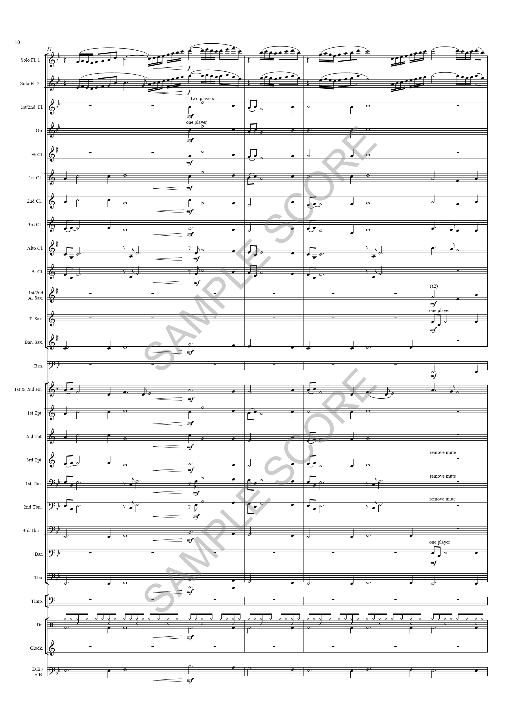 Reverie For Flutes -  Ex Sct Page 10