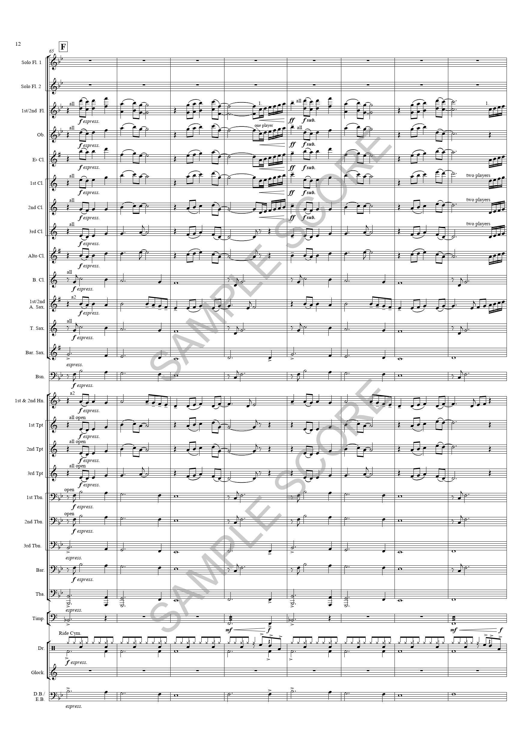 Reverie For Flutes -  Ex Sct Page 12