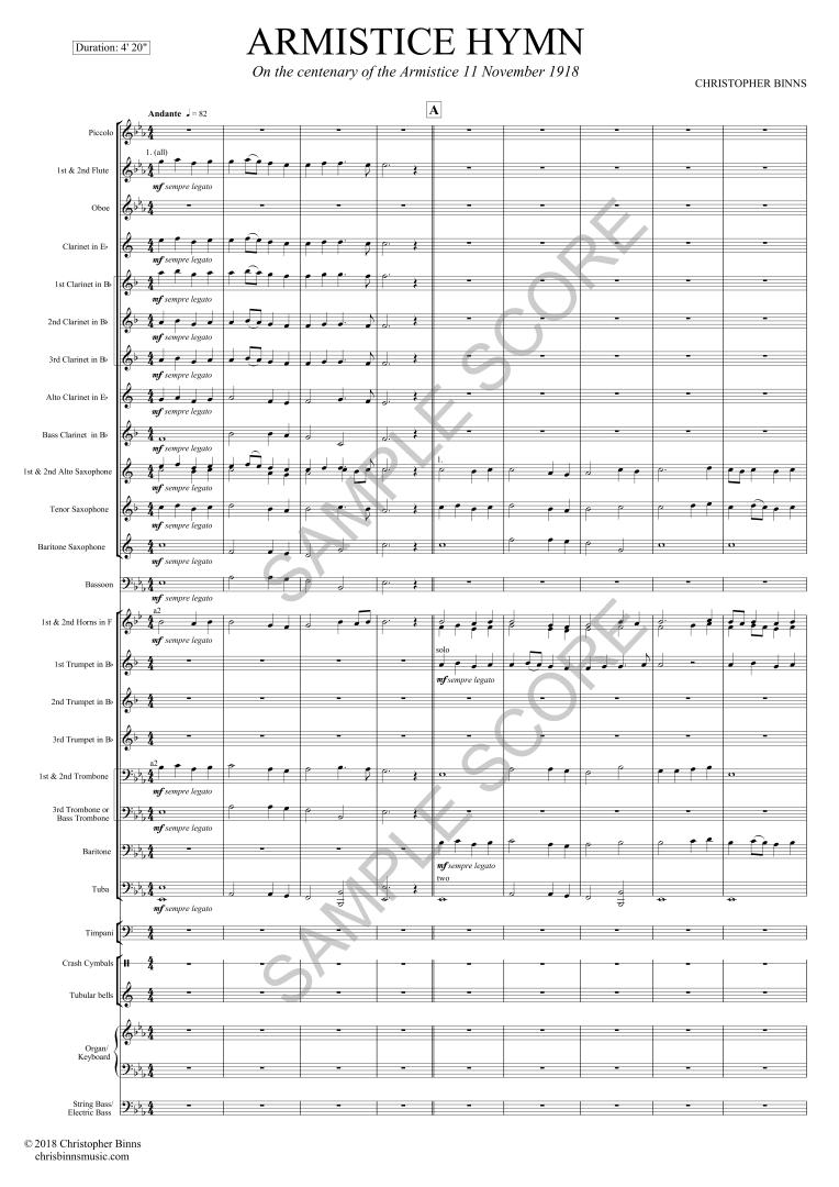Armistice Hymn - Ex Scr Page 5