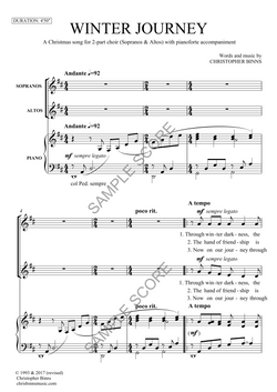 Winter Journey - Example Score Page 1