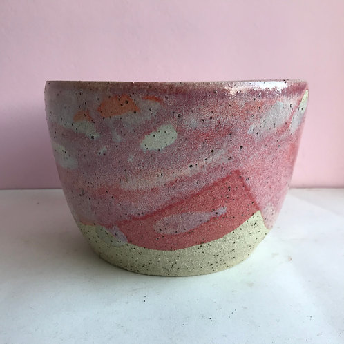 Large Recycled Clay Pink Planter