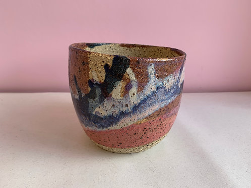 S Recycled Clay Summer Sunset Planter