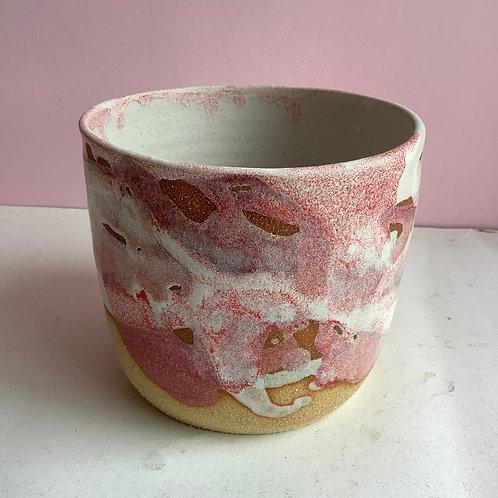 Pink Splash Planter/Vessel