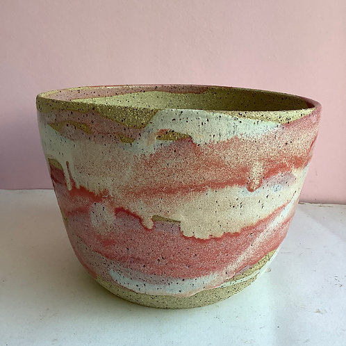 Extra Large Recycled Clay Strawberry Swirl Planter