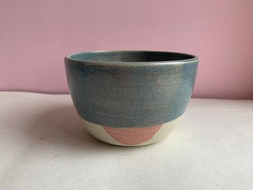Blue and pink parabola bowl