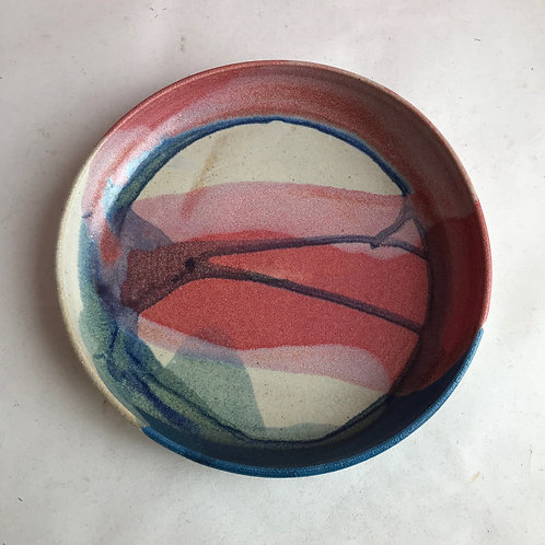 L Summer Sunset Plate Bowl