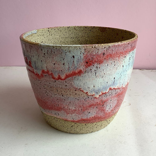 Large Recycled Strawberry Swirl Planter
