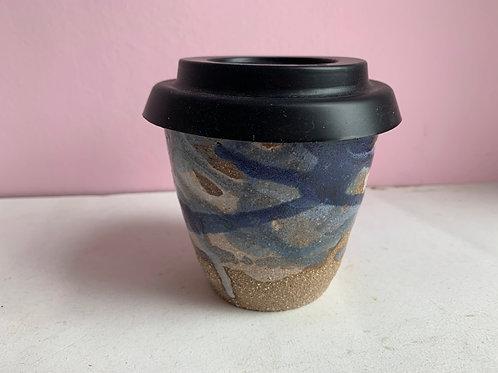 Medium Blue Splash Travel Cup