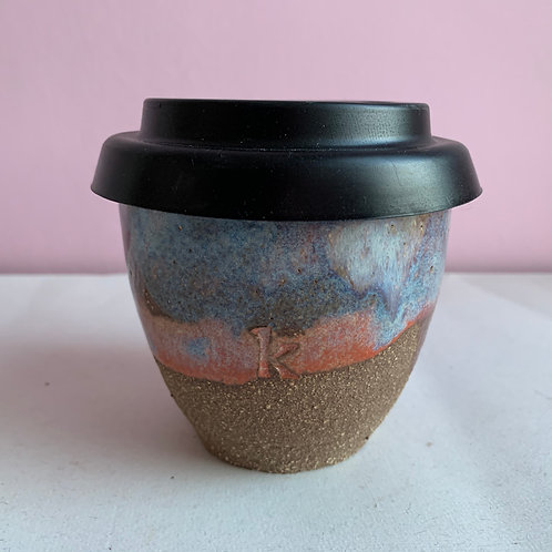 Dark sunset sea travel cup