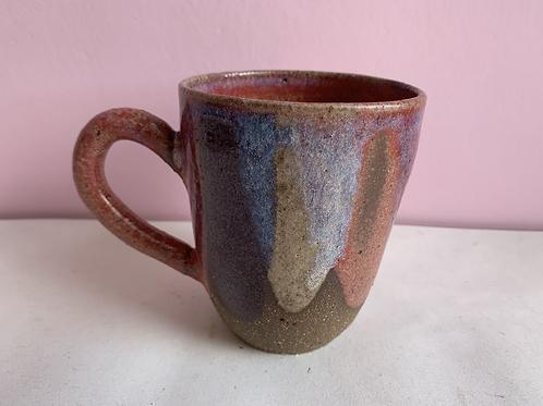 Red galaxy petal mug
