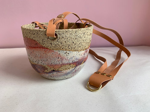 Recycled Clay Summer Sunset Hanging Planter