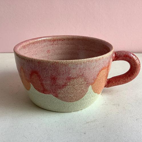 Wide Strawberry Petal Mug